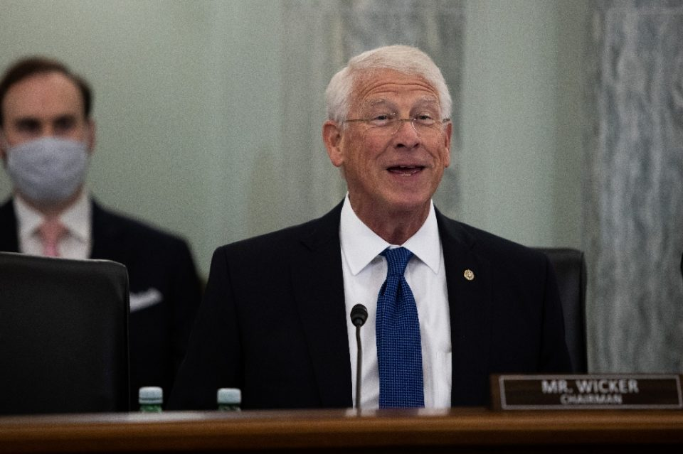 Senator Roger Wicker was to chair a hearing with CEOs of Google, Twitter and Facebook examining a law which shields online services from liability of content posted on their platforms - Graeme JENNINGS / ©AFP