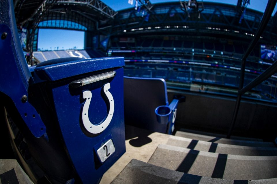 The Indianapolis Colts' home venue, Lucas Oil Stadium, could sit idle this weekend after the team announced multiple Covid-19 positives Friday and the closing of the team's practice facility - Bobby Ellis / ©AFP