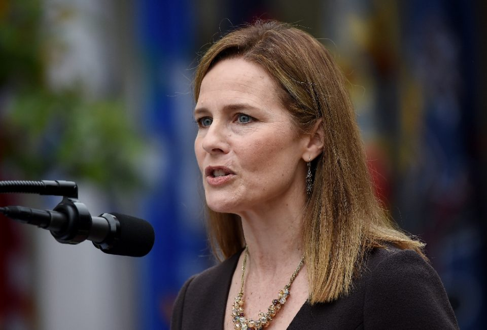 Judge Amy Coney Barrett at the White House for her nomination by President Donald Trump to the Supreme Court on September 26, 2020 - Olivier DOULIERY / ©AFP