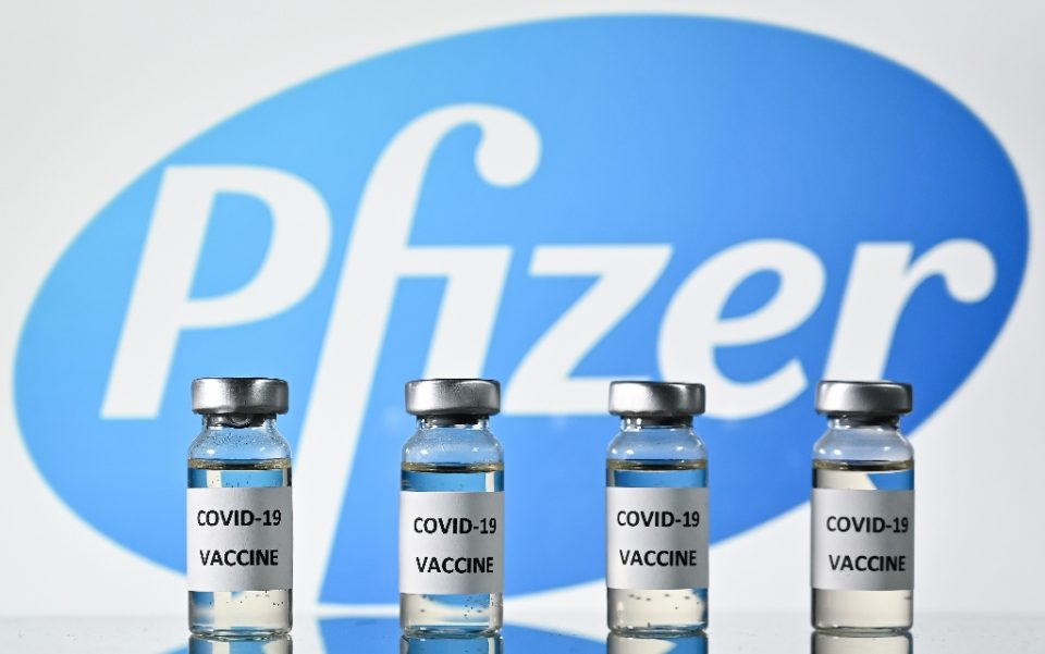 The annnouncement came after the companies said trials of the vaccine showed it was 95 percent effective - JUSTIN TALLIS / ©AFP
