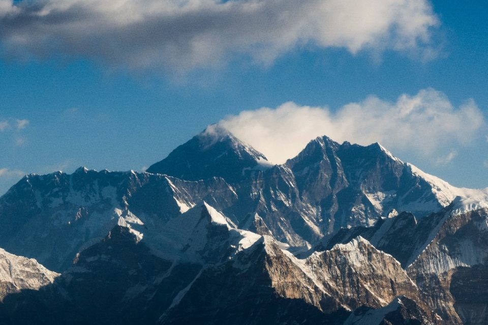 Traces of microplastics have been found as high as 8,440 metres on Mount Everest, just short of the summit - Jewel SAMAD / ©AFP