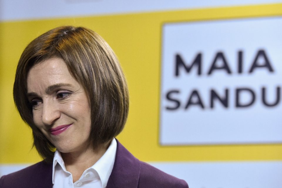 The United States has congratulated Moldova's triumphant presidential candidate Maia Sandu, seen speaking to the press in the capital Chisinau - Sergei GAPON / ©AFP