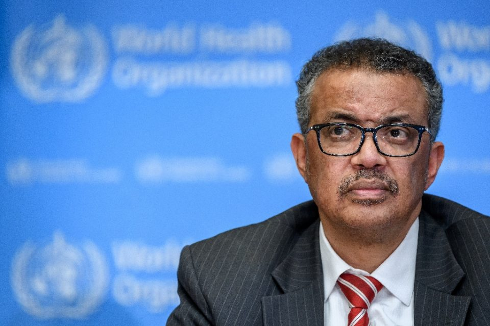 WHO head Tedros Adhanom Ghebreyesus, pictured, has been accused by Ethiopia's army chief of trying to get weapons for the dissident Tigray region - Fabrice COFFRINI / ©AFP