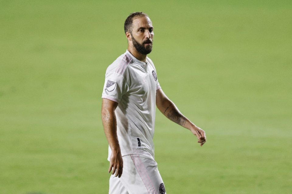 Inter Miami star Gonzalo Higuain has tested positive for Covid-19 and will his team's opening MLS play-off game, US media reported Friday - Michael Reaves / ©AFP
