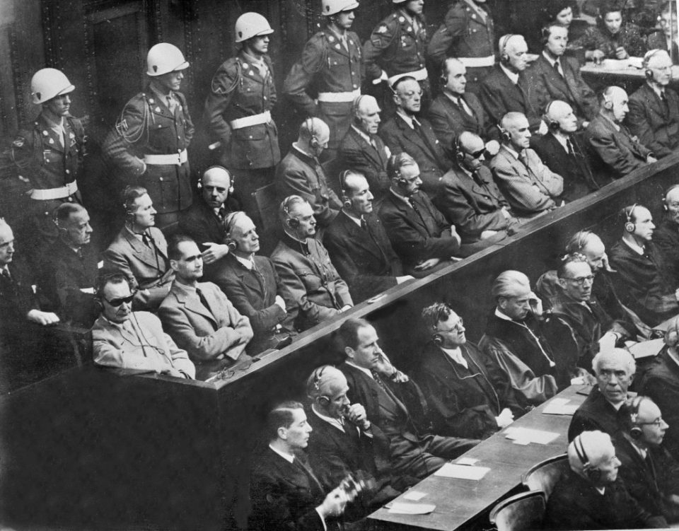 Final reckoning: On the last day of the Nuremberg trials in August 1946, the 21 accused made their final speeches from the dock - / ©AFP