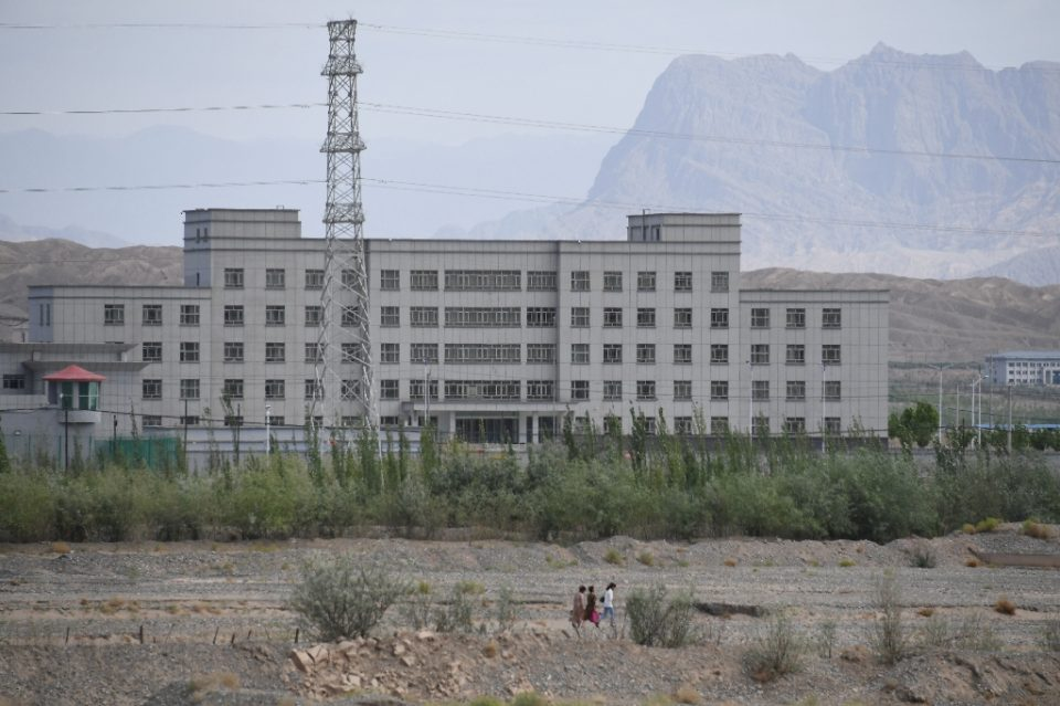 This June 2019 file photo shows a facility believed to be a re-education camp where mostly Muslim ethnic minorities are detained in Artux, in China's Xinjiang region -- Canada has banned the import of goods believed made with forced labor in Xinjiang - GREG BAKER / ©AFP