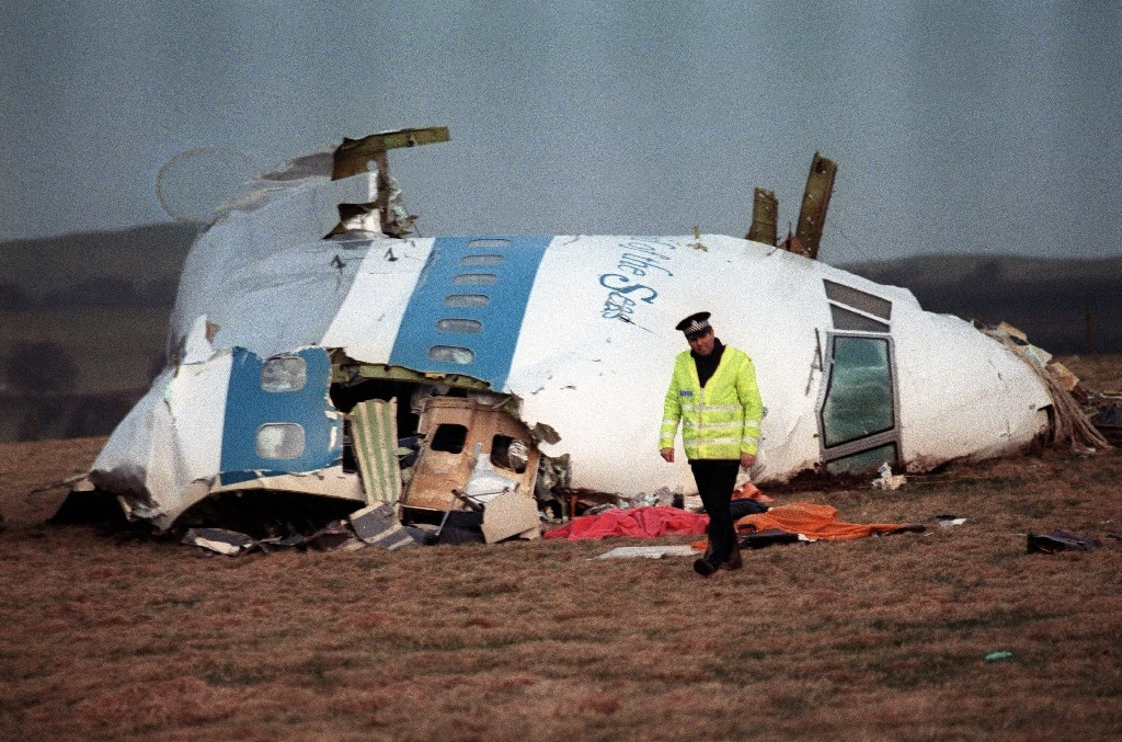 The cockpit of the downed Boeing 747 in 1998, still the worst terrorist attack in Britain - ROY LETKEY / ©AFP