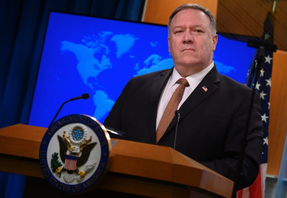 US Secretary of State Mike Pompeo, seen in March 2020, has redesignated Cuba as a state sponsor of terrorism - ANDREW CABALLERO-REYNOLDS / ©AFP