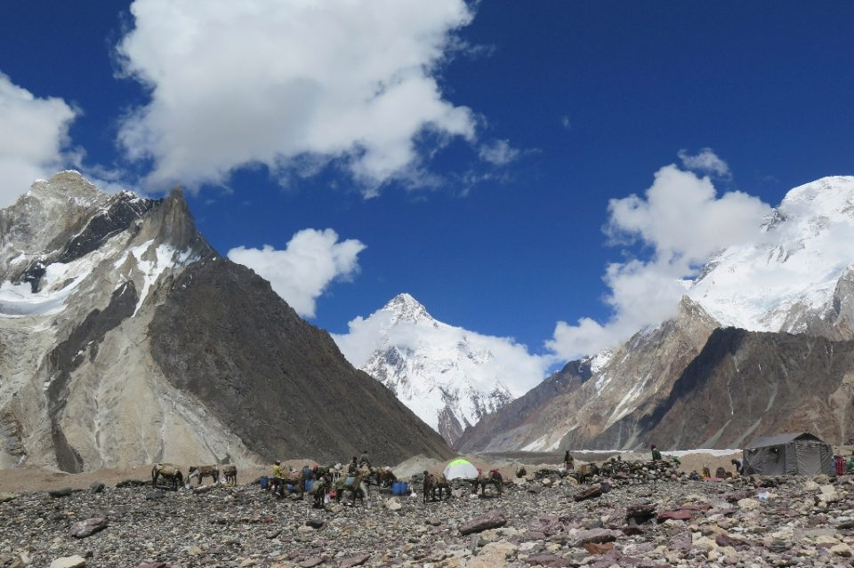 Conditions on K2 are harsh -- winds can blow at more than 200 kilometres per hour (125 miles per hour) and temperatures can drop to minus 60 degrees Celsius (minus 76 Fahrenheit) - AMELIE HERENSTEIN / ©AFP